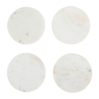 Modernist Marble Coasters - White