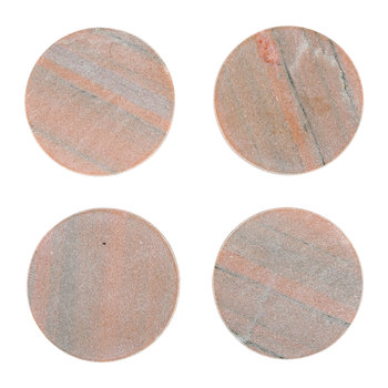 Modernist Marble Coasters - Pink