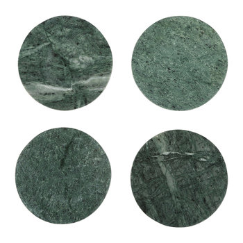 Modernist Marble Coasters - Green