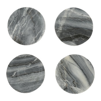 Modernist Marble Coasters - Gray