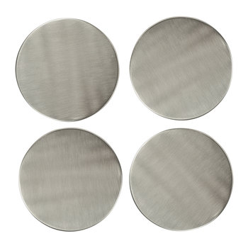 Nickel Plated Coasters - Set of 4