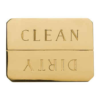 Clean/Dirty Dishwasher Magnet - Brass