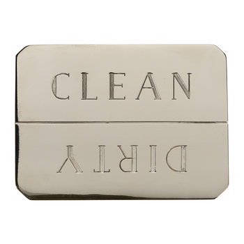 Clean/Dirty Dishwasher Magnet - Nickel Plated Brass