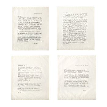 Letter Napkins - No. 1 - Love - Set 1