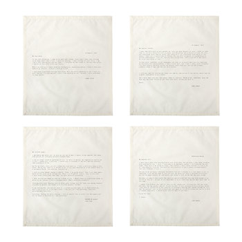 Letter Napkins - No. 1 - Love - Set 2