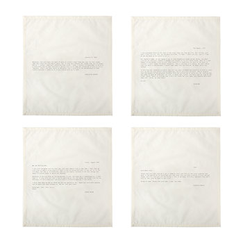 Letter Napkins - No. 1 - Love - Set 3