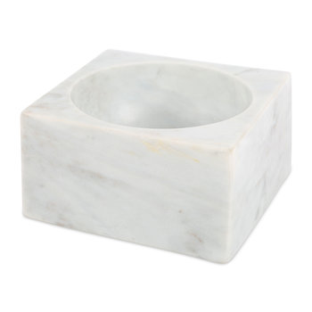Modernist Marble Bowl - White