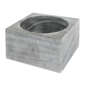 Modernist Marble Bowl - Gray
