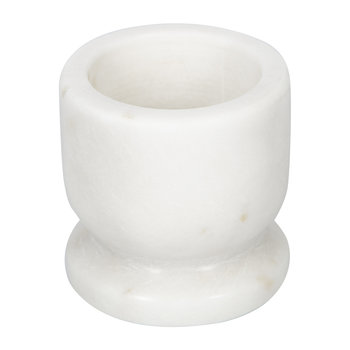 Marble Egg Cup - White