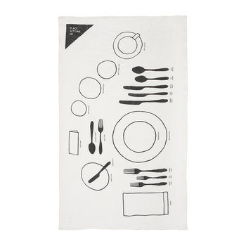 Place Setting Linen Tea Towel