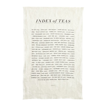 Tea List Linen Tea Towel