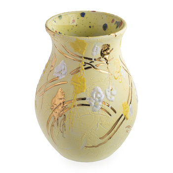 Splodge Yellow Vase