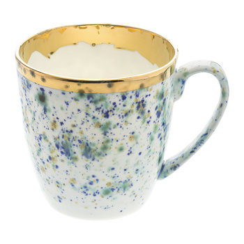 Blue Marble Gold Trim Mug