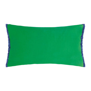Velvet Fringe Cushion - 50x30cm - Emerald
