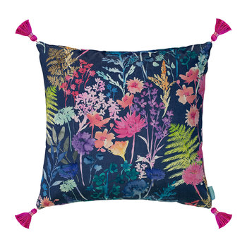 Peggy Midnight Velvet Tassel Pillow - 60x60cm