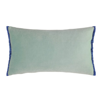 Velvet Fringe Pillow - 50x30cm - Peppermint