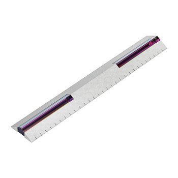 Crystal Stationary Ruler - Silver