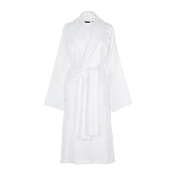 Zebrage Shawl Bathrobe - White