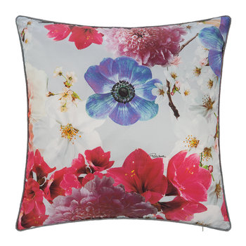 Nobuyoshi Silk Cushion - 40x40cm - Grey