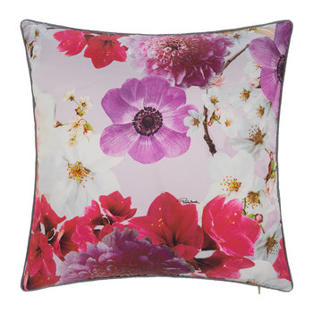 Nobuyoshi Silk Cushion - 40x40cm - Rose