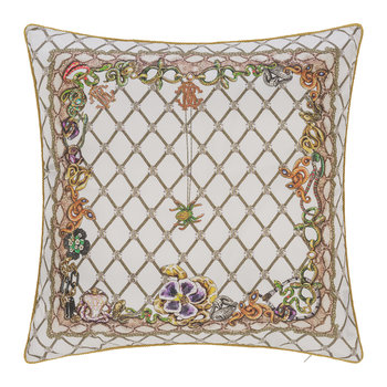 New Spider Silk Cushion - White