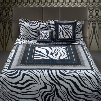Frame Zebrage Bed Set - Blue