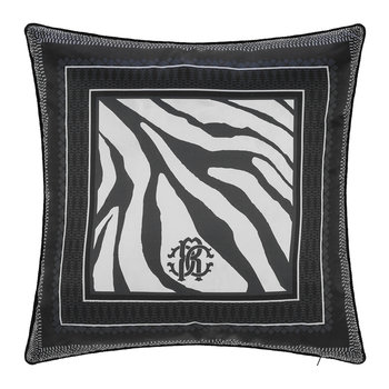 Frame Zebrage Silk Pillow - Blue