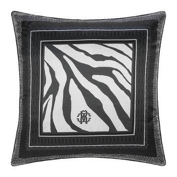Frame Zebrage Silk Cushion - Blue