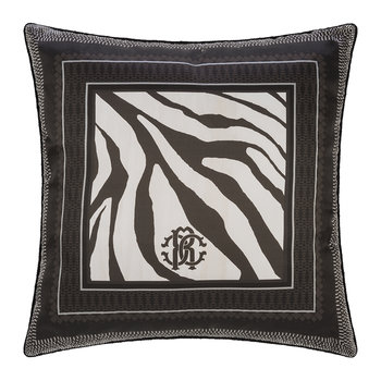 Frame Zebrage Silk Pillow - Gray