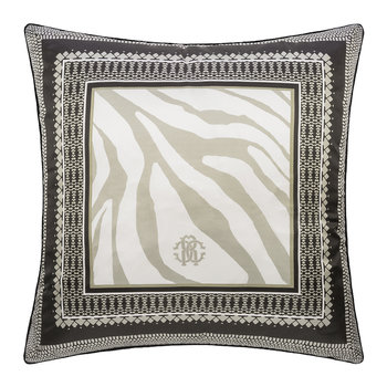 Frame Zebrage Silk Cushion - Sand