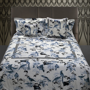 Bird Ramage Bed Set - Blue