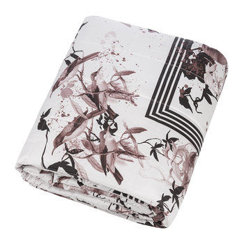 Bird Ramage Quilted Bedspread - 270x260cm - Rose