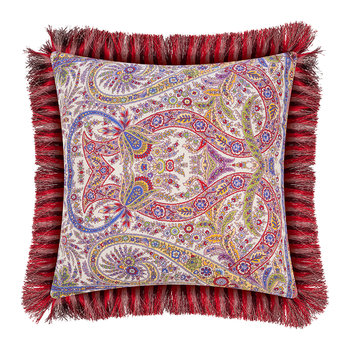 Colombara Tassel Edged Pillow - 45x45cm - Red