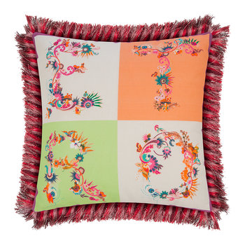 Jacaranda Tassel Edged Cushion - 45x45cm - Multi