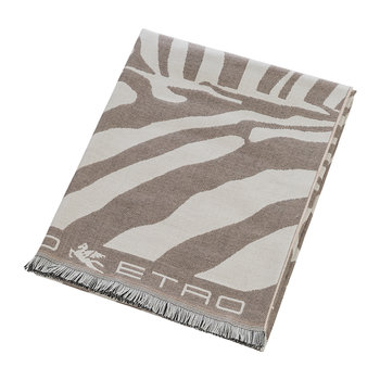 Parrish Zebra Fringed Throw - 140x180cm - Beige