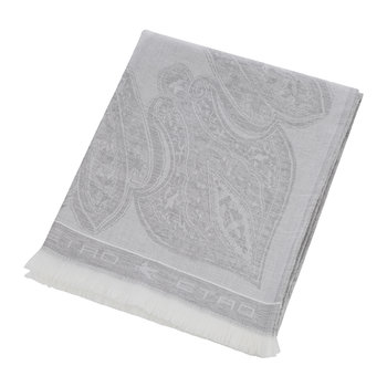 Smithtown Paisley Throw - 150x180cm - Gray