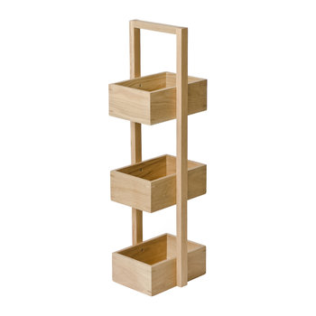 3 Tier Bathroom Caddy - Oak