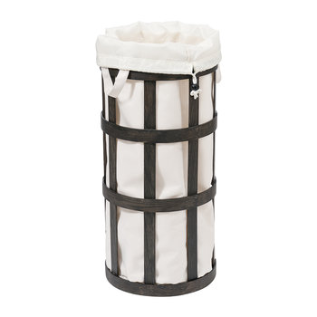 Cage Laundry Basket - Soft White/Dark Oak