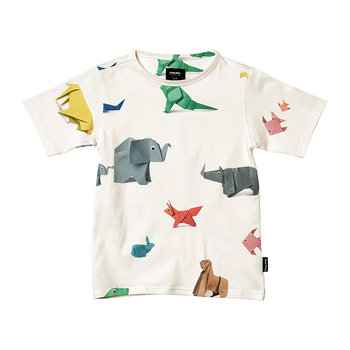 Children's Paper Zoo Pajama Top