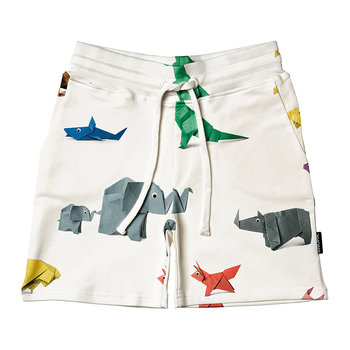 Children's Paper Zoo Pajama Shorts