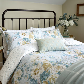 Giselle Duvet Set - Duck Egg
