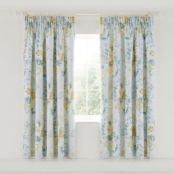 Giselle Lined Curtains - 168x183cm - Duck Egg