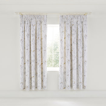Tuileries Lined Curtains - 168x183cm - Linen/Gray