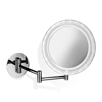 BS 16 Touch Cosmetic Mirror - Illuminated Chrome - 5x Magnification