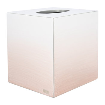Ombre Tissue Box - Pink/Silver