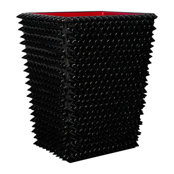 Spikes Waste Bin - Black/Red