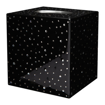Stardust Tissue Box - Black/Silver