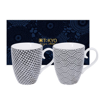 Nippon Black Mug Set - Set of 2 - Wave/Raindrop