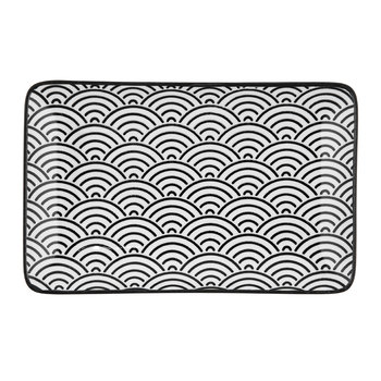 Nippon Black Rectangular Plate - Wave