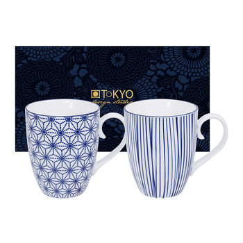 Nippon Blue Mug Set - Set of 2 - Star/Lines